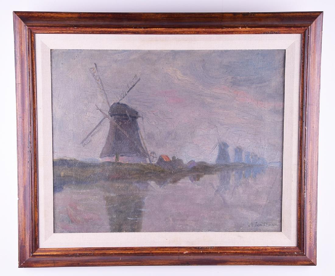 J. H. TWACHTMAN (1853 - 1902) vintage oil on canvas