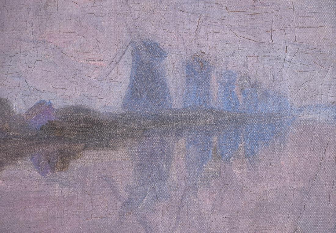 J. H. TWACHTMAN (1853 - 1902) vintage oil on canvas - 3