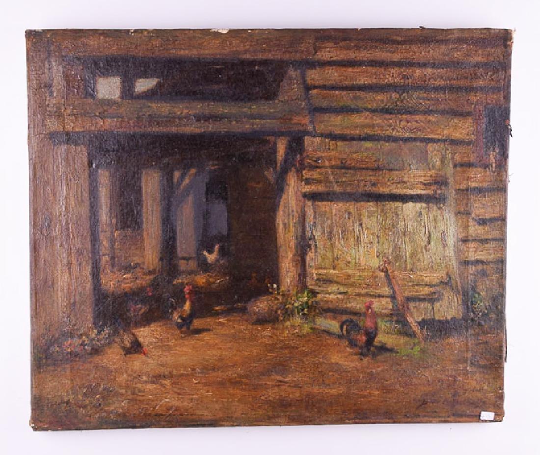 Burr Nicholls (1848 - 1915) vintage oil on canvas