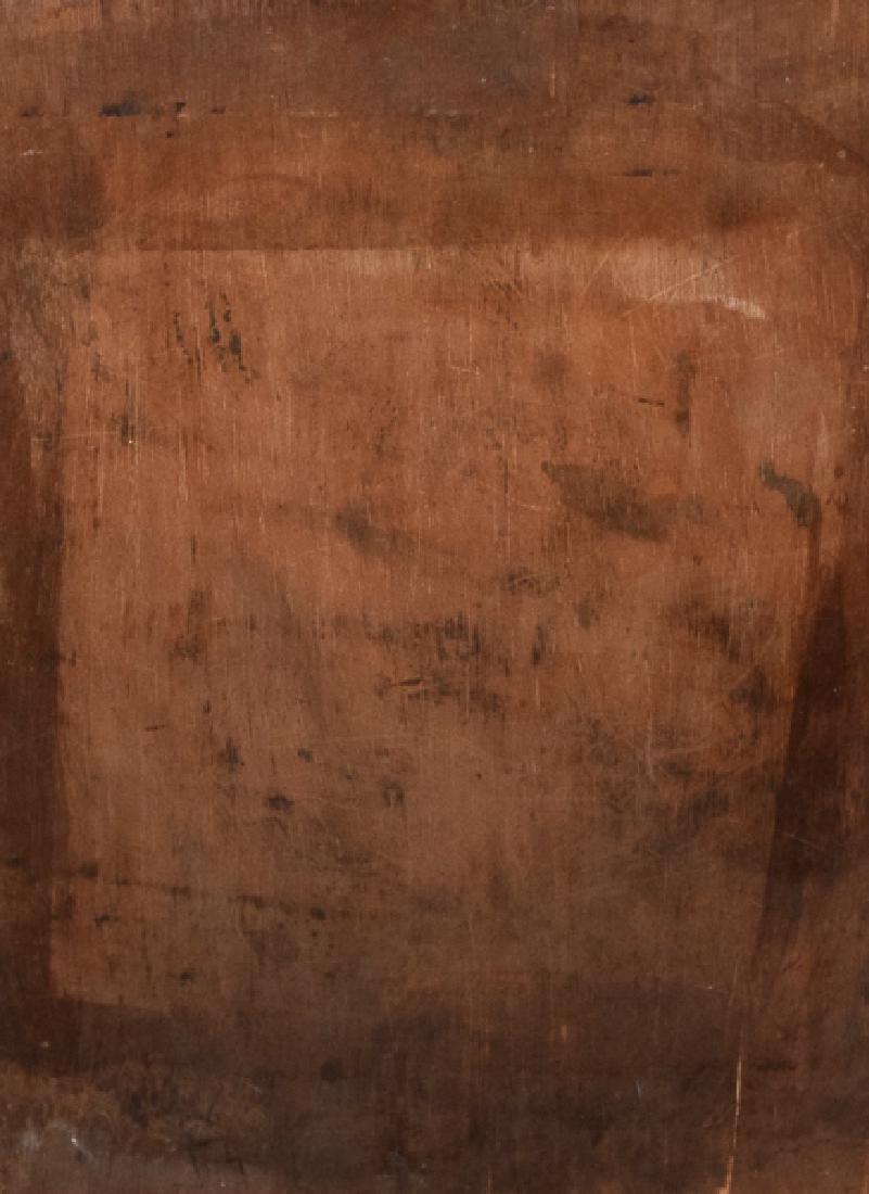 Art Deco Lady oil on panel - 2