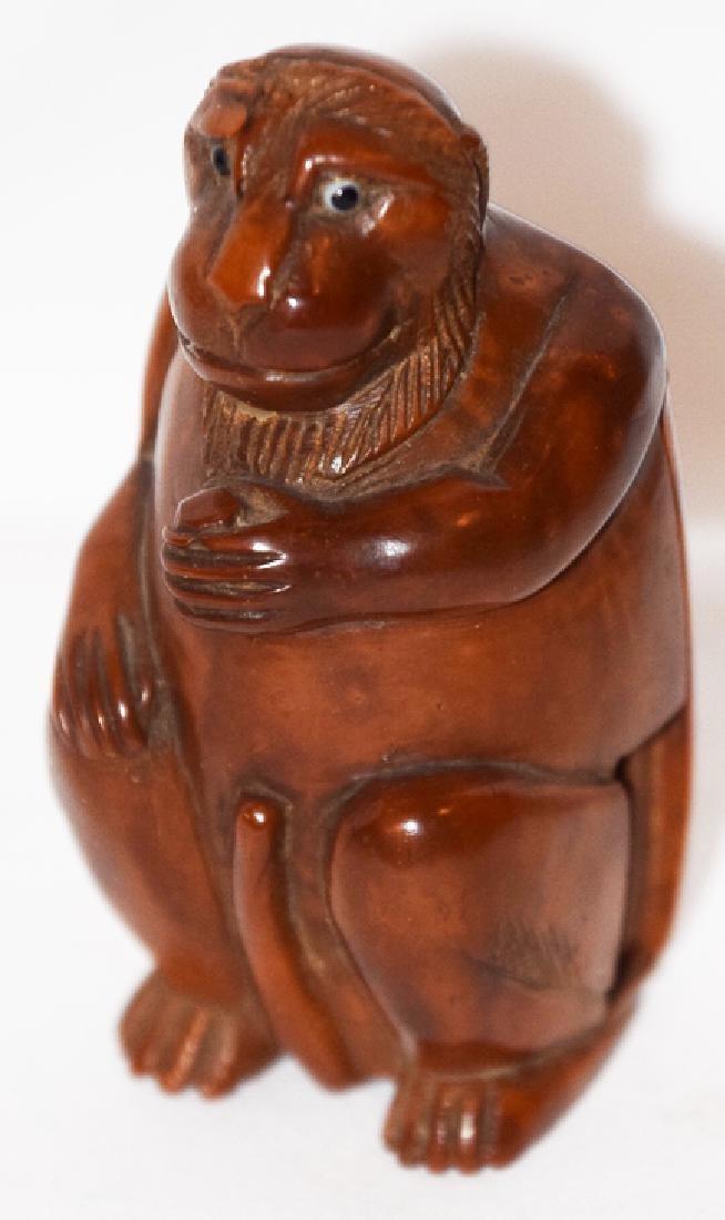 Wood Monkey Figure back case c. XVII