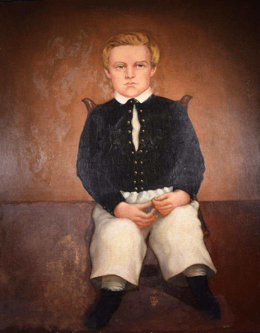 Unknown artist oil on panel American folk art