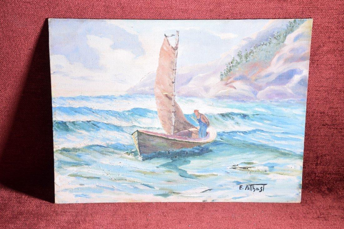 Edward Potthast (1857 - 1927) Oil on Canvas Fisherman