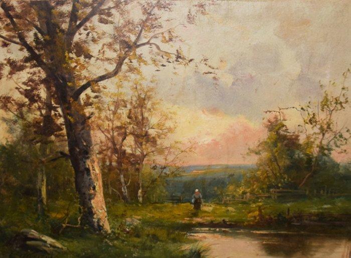 Edna Morisot oil on canvas Peasant