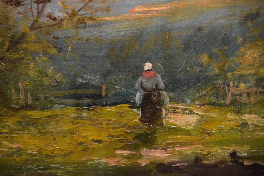 Edna Morisot oil on canvas Peasant - 3
