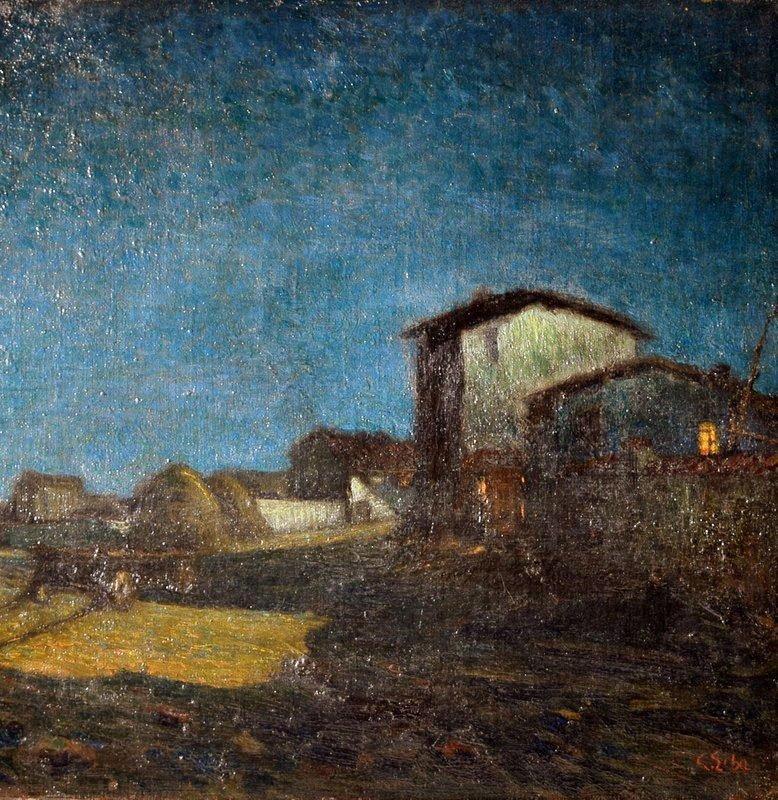 Carlo ERBA Oil on Canvas Casolari