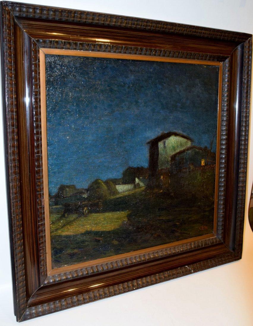Carlo ERBA Oil on Canvas Casolari - 2