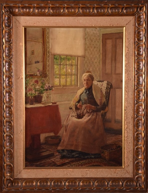 George Newall BOWERS (1849-1909) -Untitled (Old Woman)