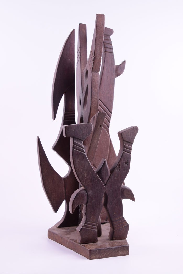 Wilfredo LAM (1902 - 1982) - (Rare wood sculpture by