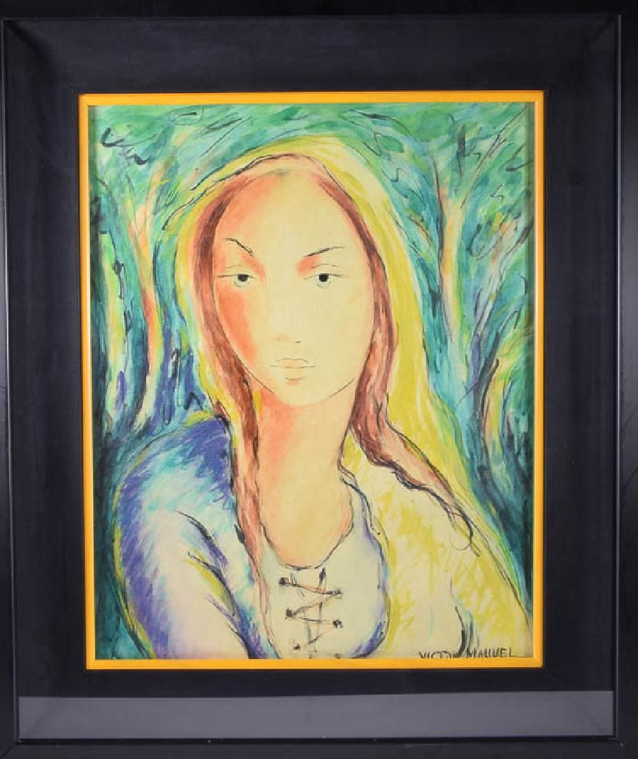 Victor MANUEL (1897 - 1969) - (Farmer - Woman)