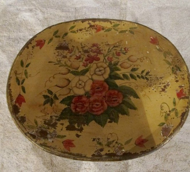 2. Painted Oval Table