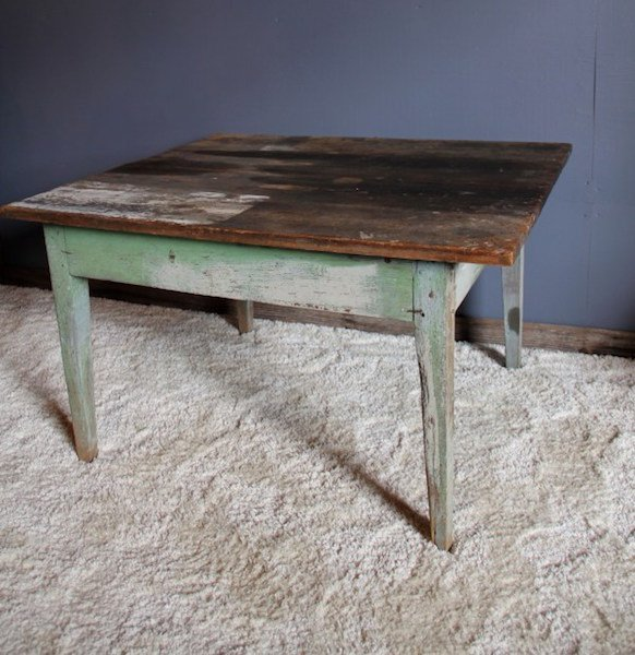 6. Primitive Farm Table in Old Paint