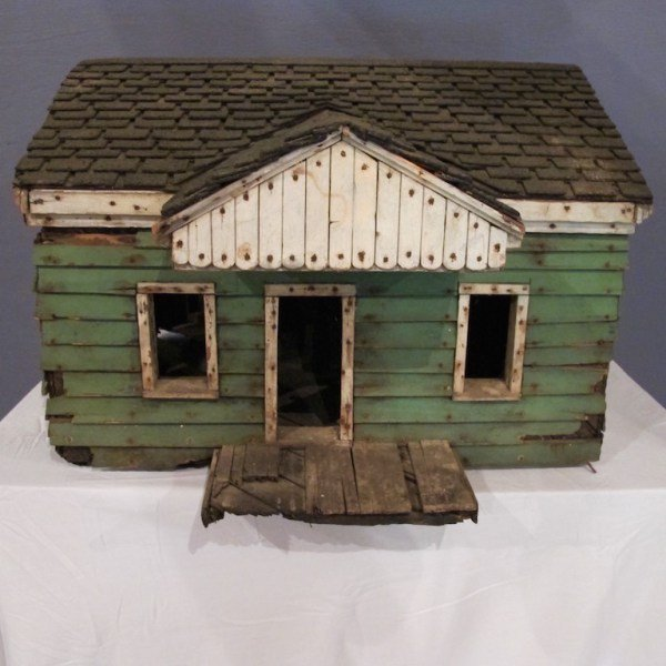 7. Unique Folk Art Early 20C Doll House