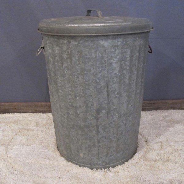 12. Galvanized Trash Can