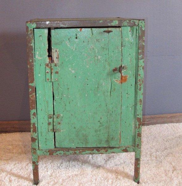 21. Unusual One Door Factory Safe Cabinet