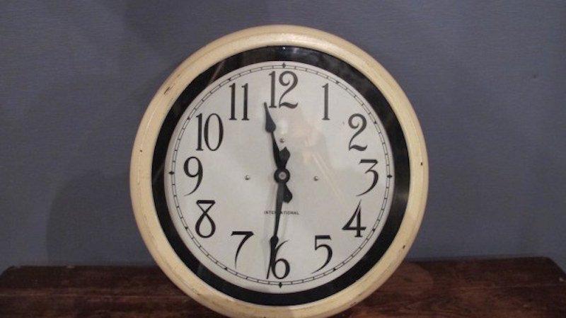 24. Circa 1919 IBM Factory\School Clock