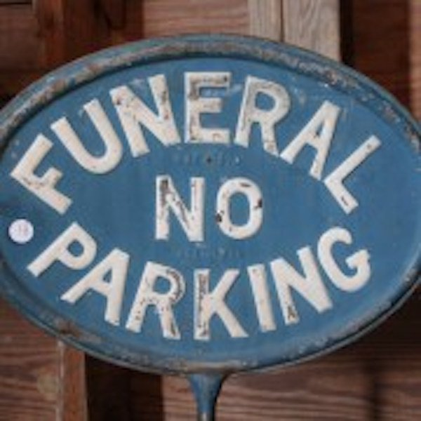 "81. Rare ""Funeral Space""/ No Parking Sign - 2"