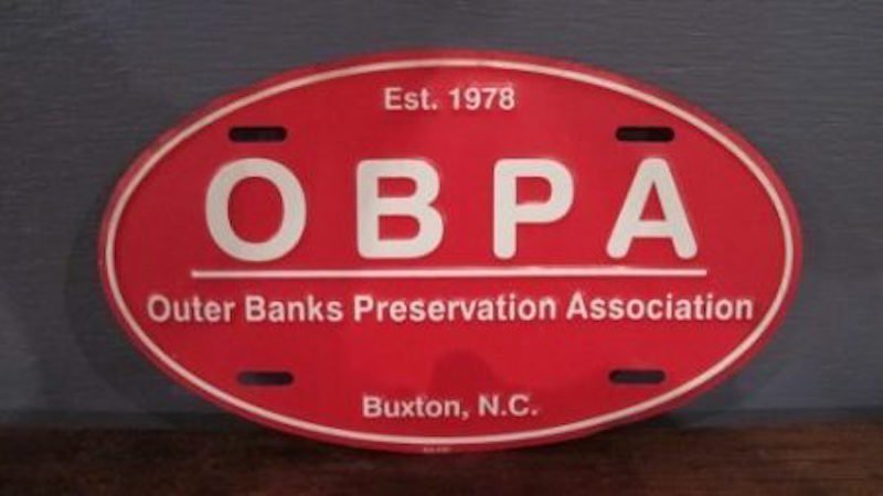 "90. Outer Banks ""OBPA"" Metal Auto Tag"