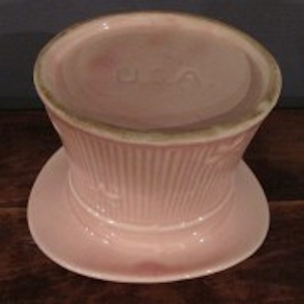 "148. Signed ""U.S.A."" Pink Top Hat Planter - 2"