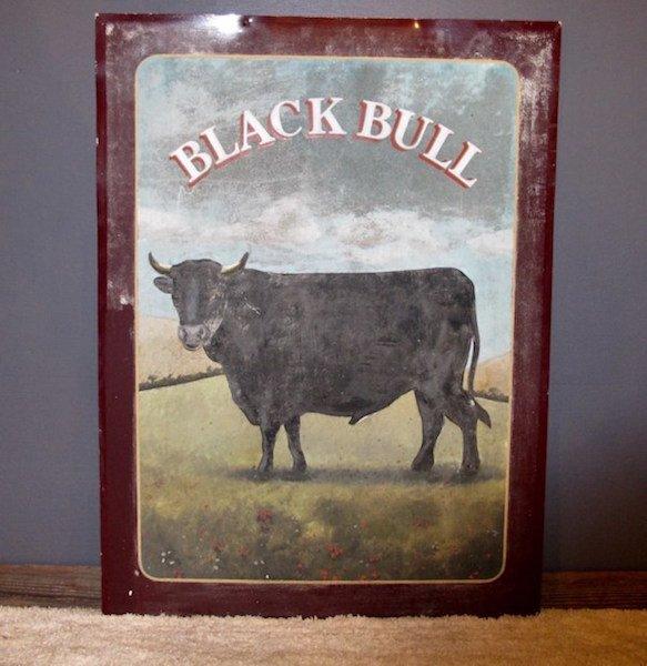 """167.  Vintage Pub Sign - """"Black Bull"""""""