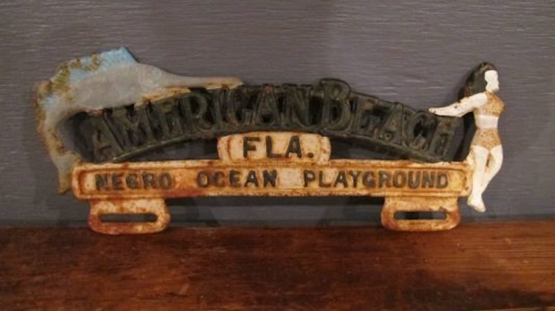 "178. ""American Beach"" License Topper"