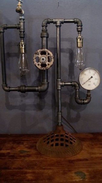 191. Steampunk Table Lamp