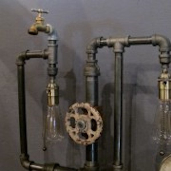191. Steampunk Table Lamp - 3