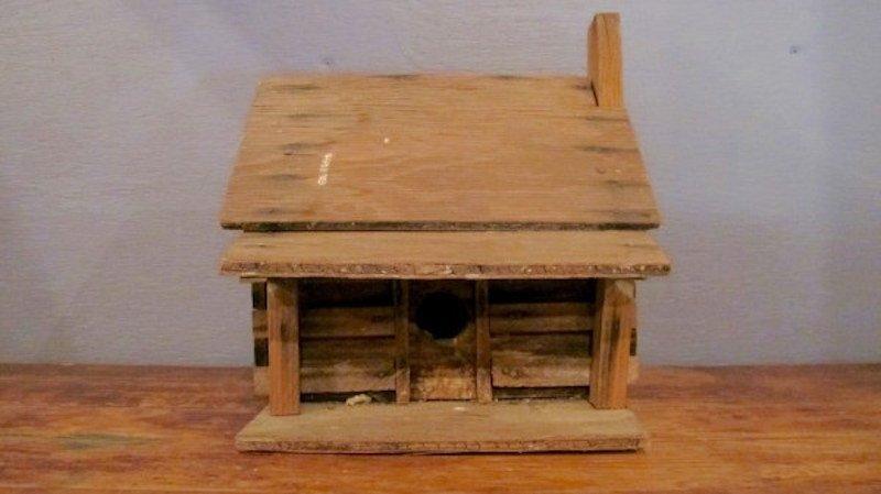 195. Primitive Folk Art Bird House