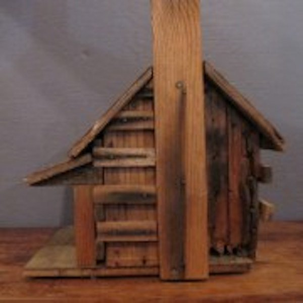 195. Primitive Folk Art Bird House - 2