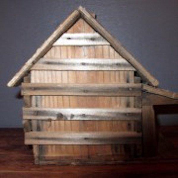 195. Primitive Folk Art Bird House - 4