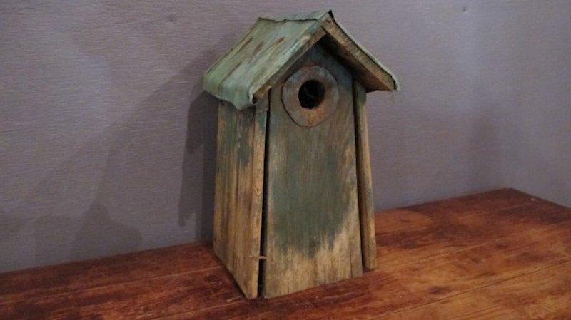 196. Primitive Tall Bird House