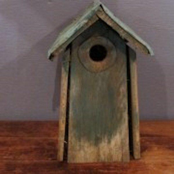 196. Primitive Tall Bird House - 2