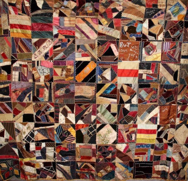 246. Outstanding Crazy Quilt Dated 1894
