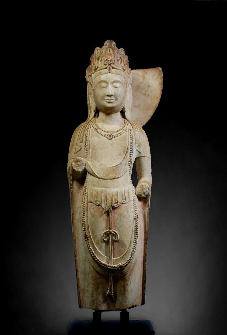 CHINESE STONE FIGURE OF GUANYIN