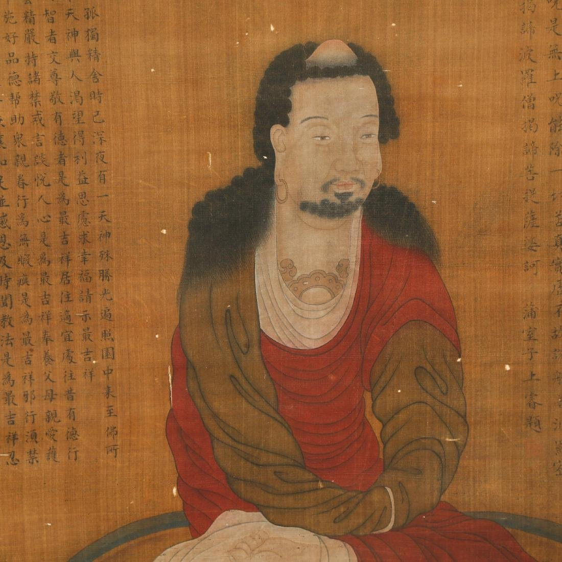 CHINESE SCROLL PAINTING OF LOHAN - 6