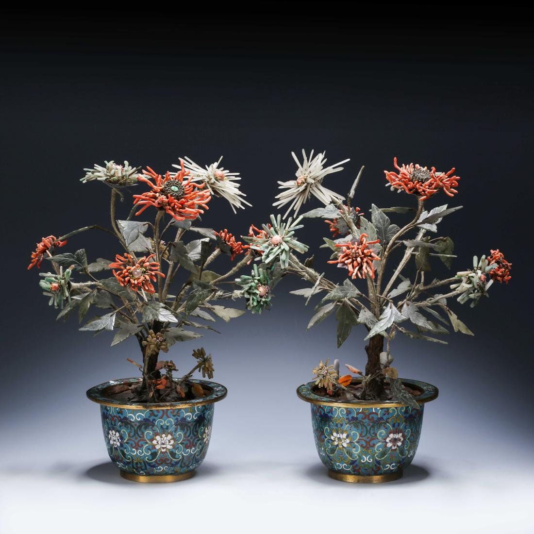 PAIR OF CHINESE CLOISONNE PLANTERS