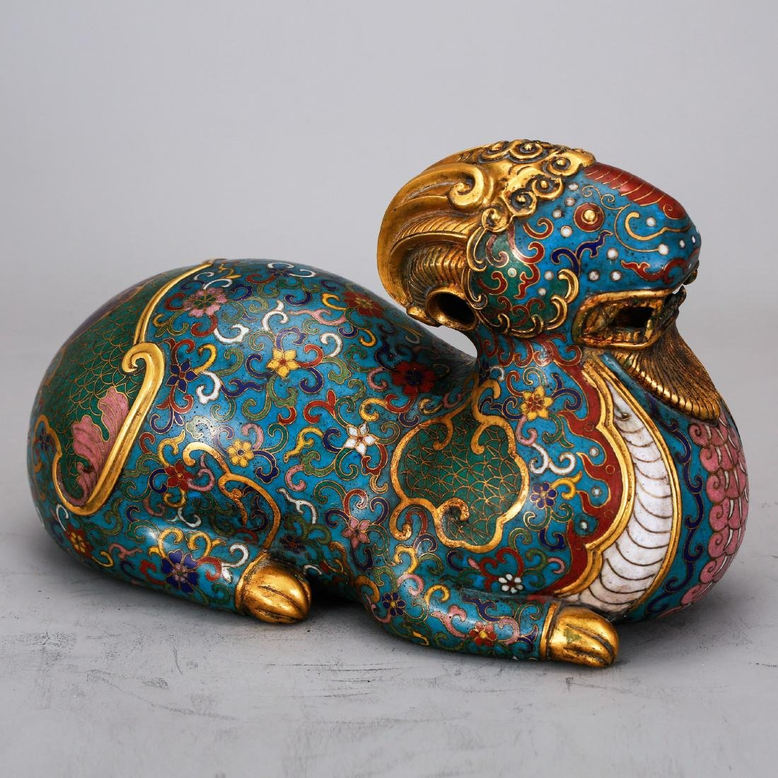CHINESE CLOISONNE FIGURE OF BEAST