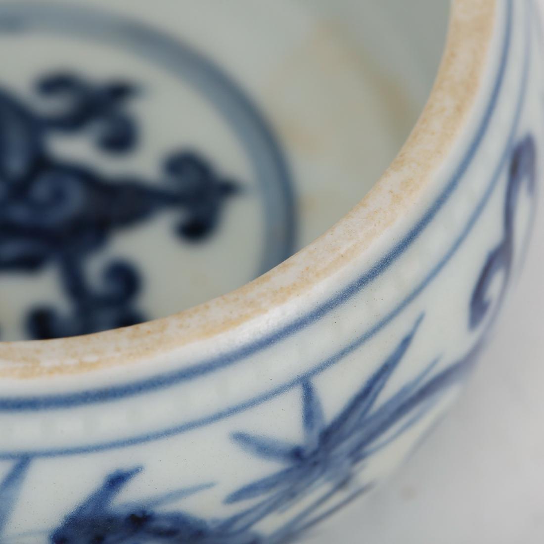 CHINESE BLUE AND WHITE PORCELAIN BRUSH WASHER - 3