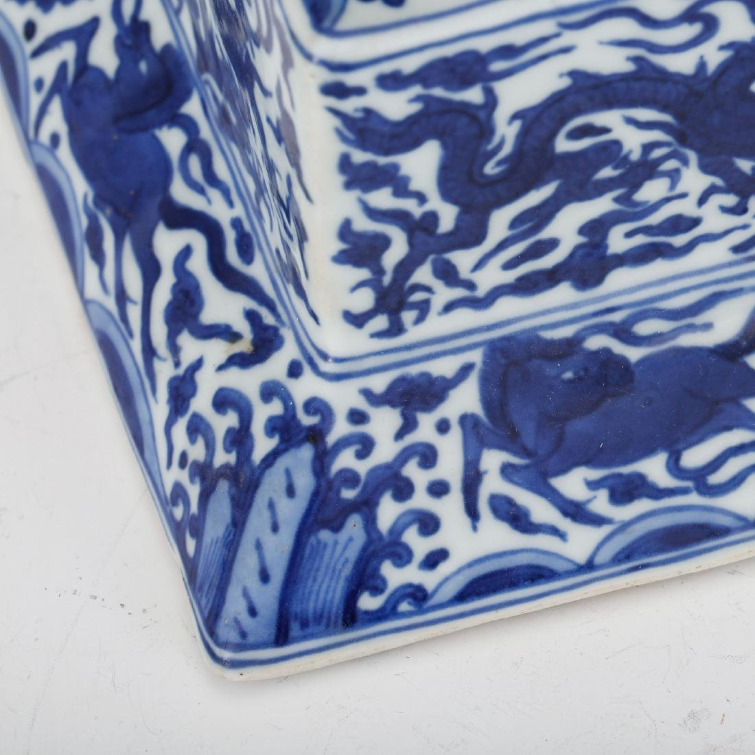 CHINESE BLUE AND WHITE PORCELAIN INK PALETTE - 5