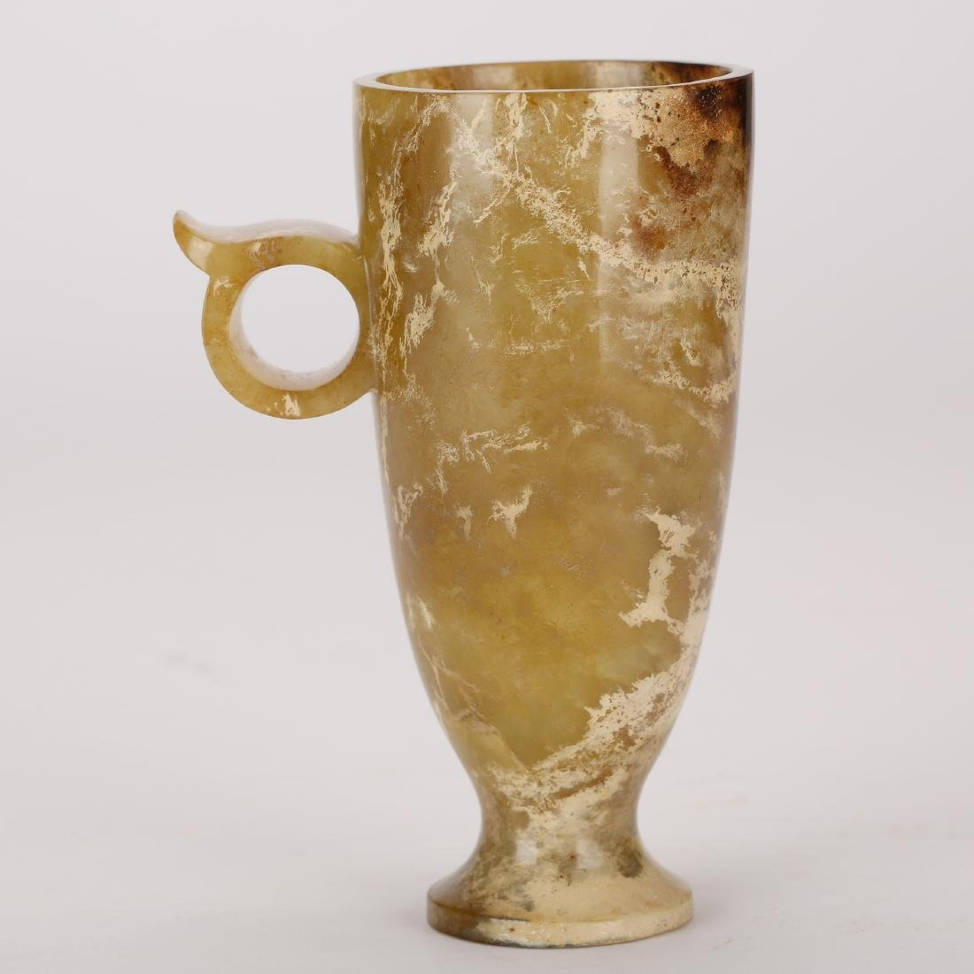 CHINESE ARCHAIC JADE CUP, HAN DYNASTY