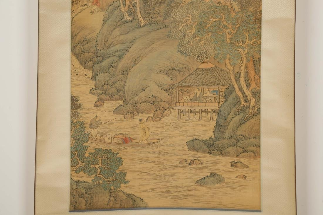 CHINESE SCROLL PAINTING OF LANDSCAPE - 4