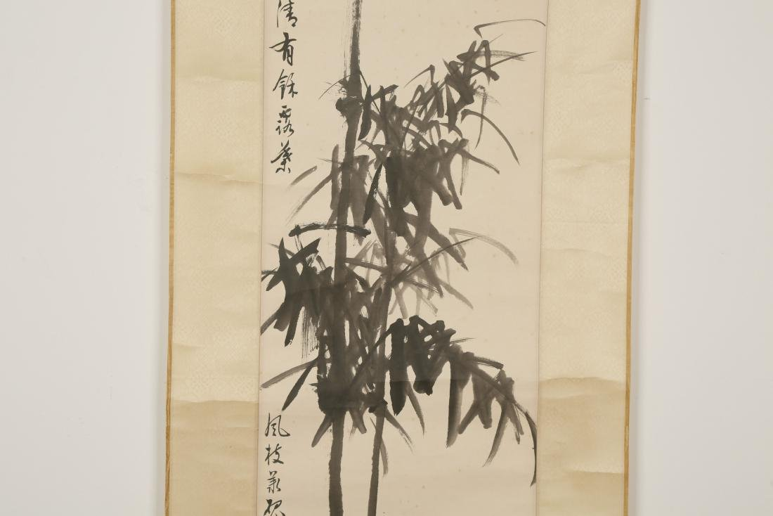CHINESE SCROLL PAINTING OF BAMBOO - 2