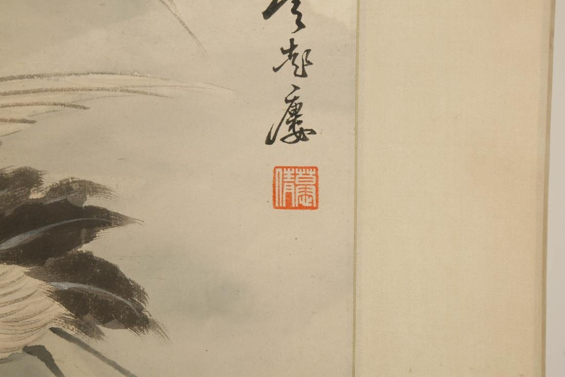 CHINESE SCROLL PAINTING OF CRANES - 7