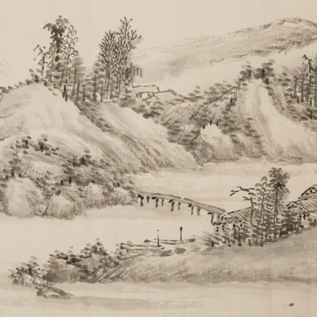 CHINESE SCROLL PAINTING OF LANDSCAPE - 8