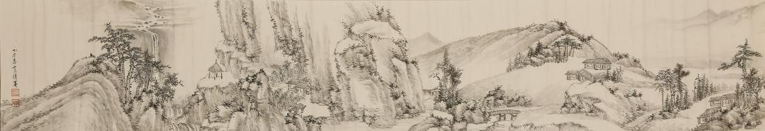 CHINESE SCROLL PAINTING OF LANDSCAPE - 9