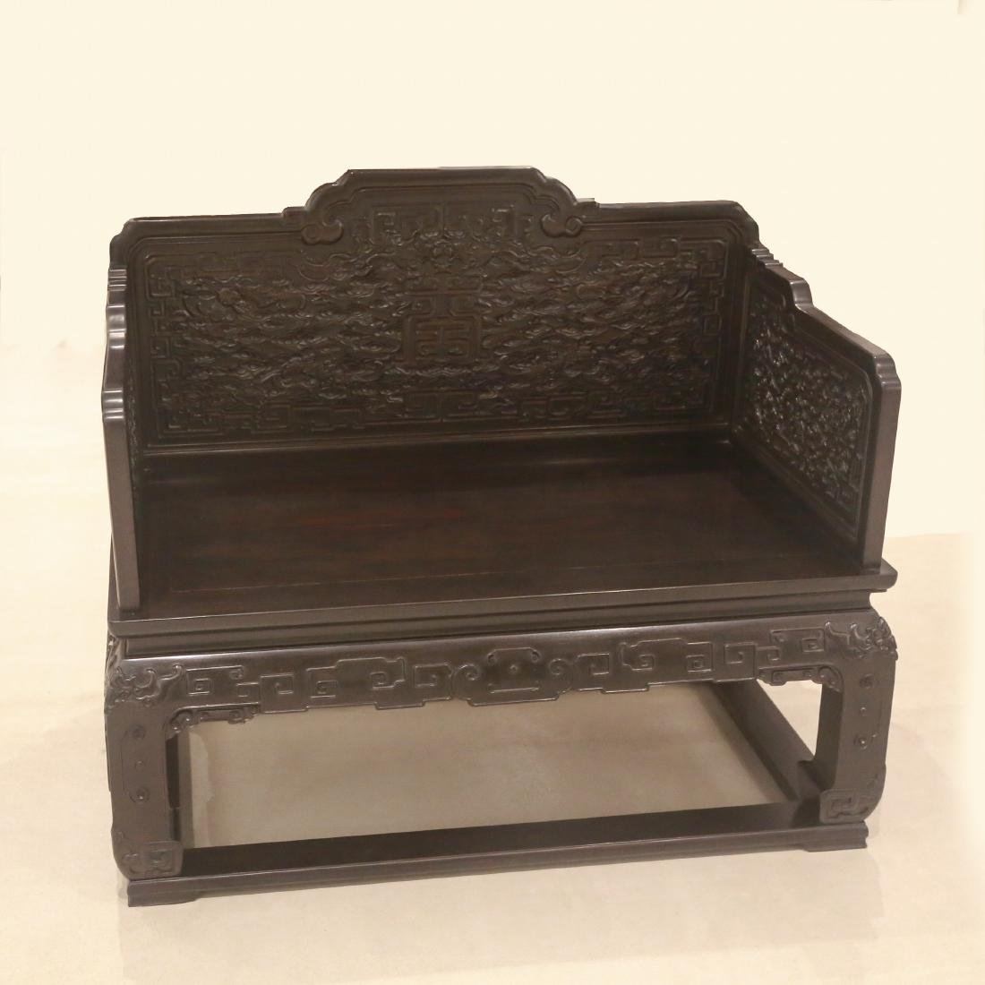 CHINESE IMPERIAL THRONE CHAIR CARVED BATS