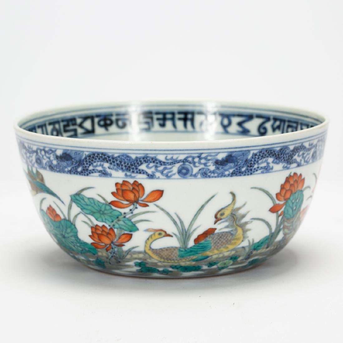 CHINESE BLUE AND WHITE DOUCAI BOWL - 3
