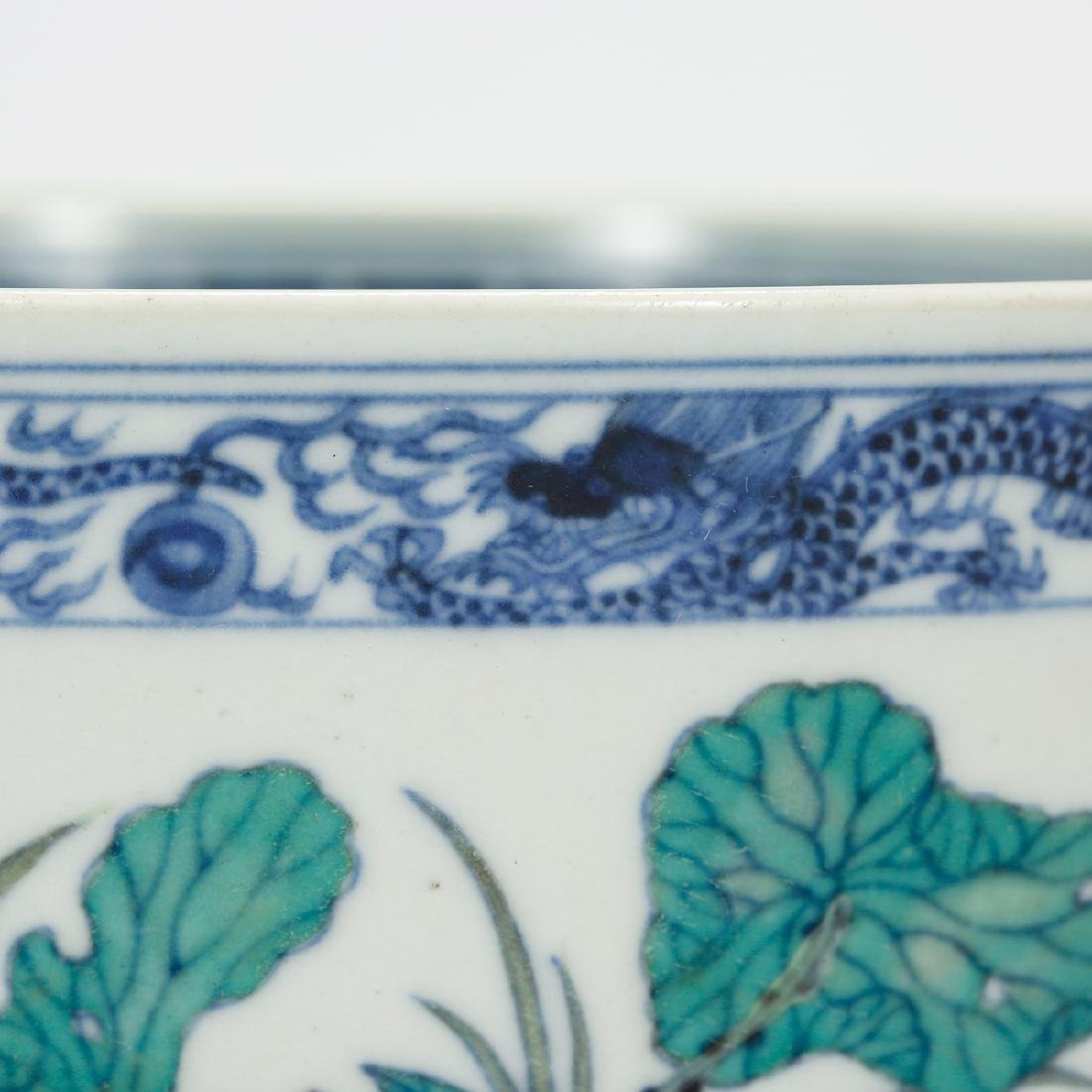 CHINESE BLUE AND WHITE DOUCAI BOWL - 5