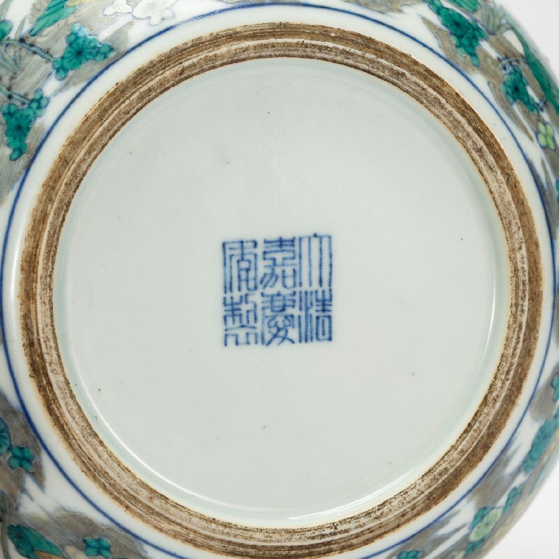 CHINESE BLUE AND WHITE DOUCAI BOWL - 6