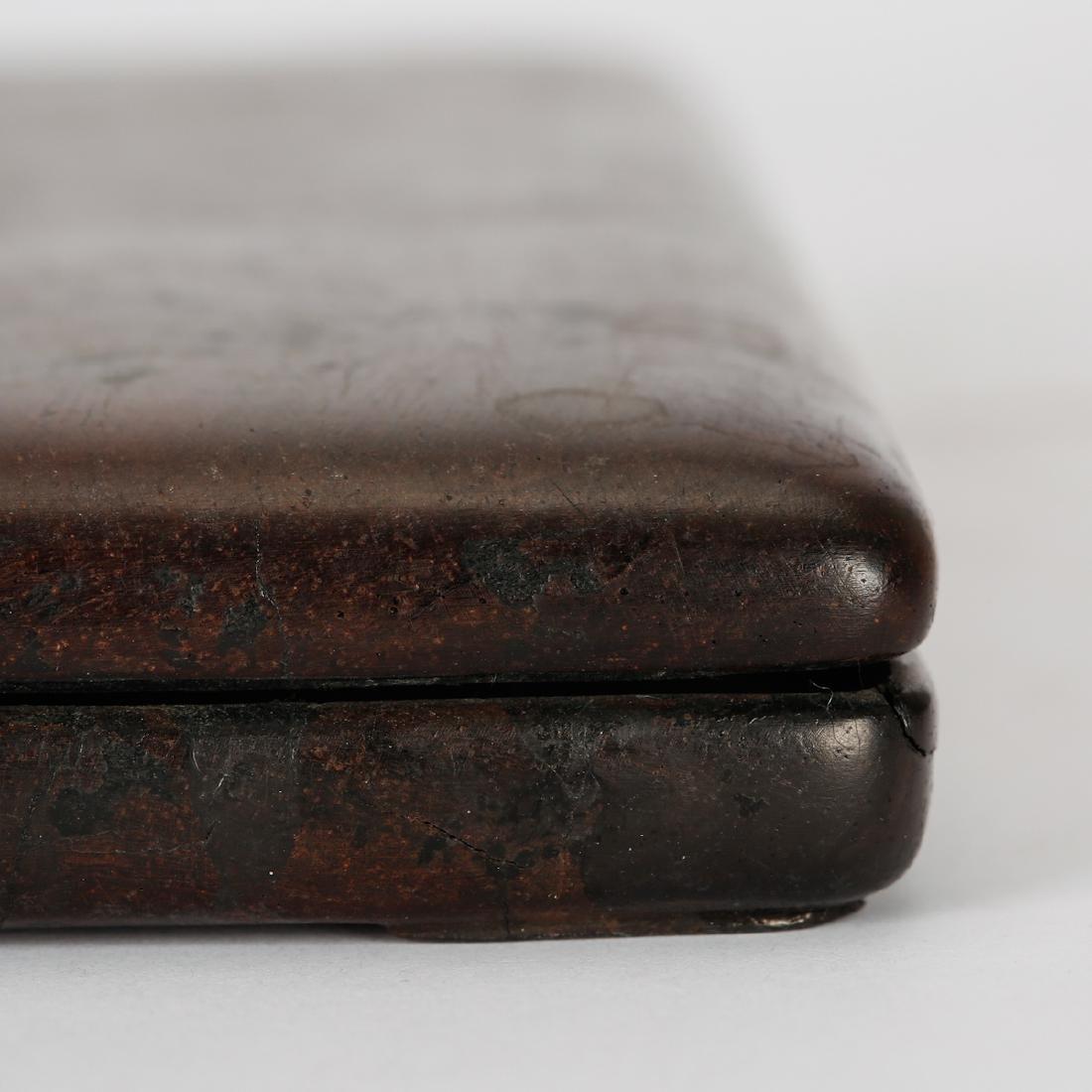CHINESE ROSE WOOD INK STONE BOX - 4